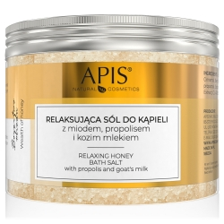 Apis - BOGACTWO MIODU - Relaksująca sól do kąpieli z miodem, propolisem i kozim mlekiem 650 g