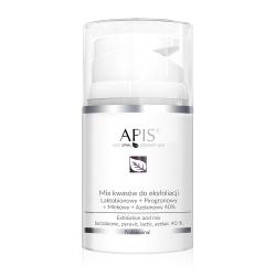 Apis - EKSFOLIACJA - Mix kwasów do eksfoliacji Laktobionowy + Pirogronowy + Mlekowy + Azelainowy 40% 50 ml