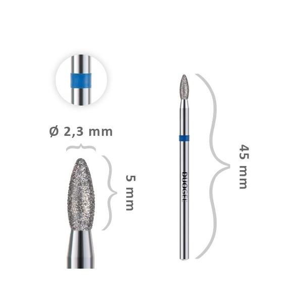 Frez BULLET (Łezka) Ø2,3 mm BL-Fi23B05