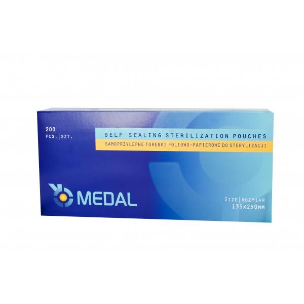 Samoprzylepne Torebki Foliowo-Papierowe do Sterylizacji - MEDAL 90mm x 135 mm