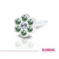 BLOMDAHL kolczyk przekłuciowy Daisy Peridot/Crystal 5mm