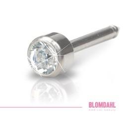 BLOMDAHL kolczyk przekłuciowy Bezel Crystal Long 4mm