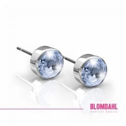 BLOMDAHL kolczyki hipoalergiczne Bezel Alexandrite (C) 5mm srebrne