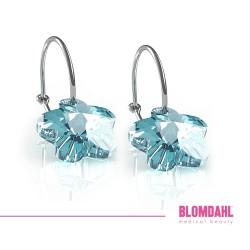 BLOMDAHL kolczyki hipoalergiczne Flower Aquamarine (C) 12mm