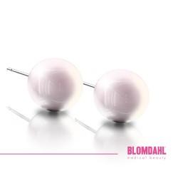 BLOMDAHL kolczyki hipoalergiczne Pearl Light Rose (C) 8mm