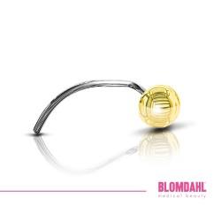 BLOMDAHL kolczyk przekłuciowy do nosa Ball (C) 3mm złoty