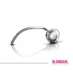 BLOMDAHL kolczyk przekłuciowy do nosa Ball (C) 3mm srebrny